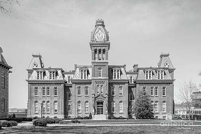 West Virginia University Woodburn Hall Poster by University Icons