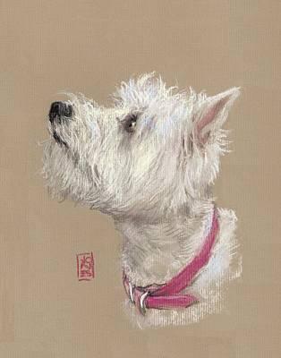Westie Profile Poster by Debra Jones