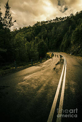 Wet Highland Road Poster by Jorgo Photography - Wall Art Gallery
