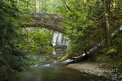 Whatcom Falls Bridge Poster by Idaho Scenic Images Linda Lantzy