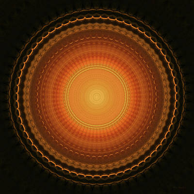 Wheel Kaleidoscope Poster by Wim Lanclus