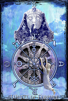 Wheel Of Fortune Poster by Tammy Wetzel