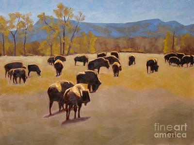 Where The Buffalo Roam Poster by Tate Hamilton