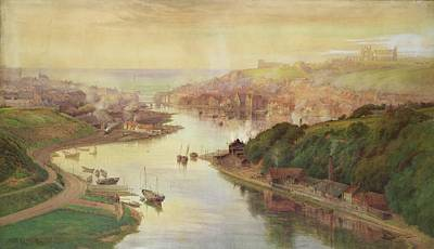 Whitby From Larpool Poster by John Sowden