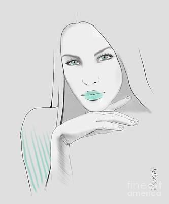 White Poster by Gabriela Tasiro