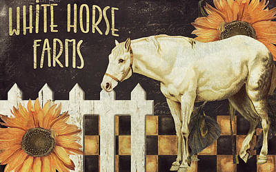 White Horse Farms Vermont Poster by Mindy Sommers