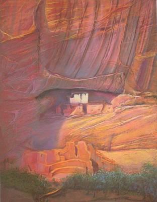 White House Rock  Home Of He Anasazi He Anasazi Poster by Pamela Mccabe