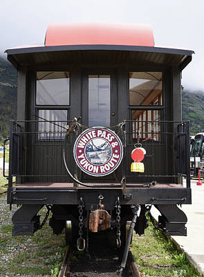 White Pass Train Caboose Poster by Barbara Snyder