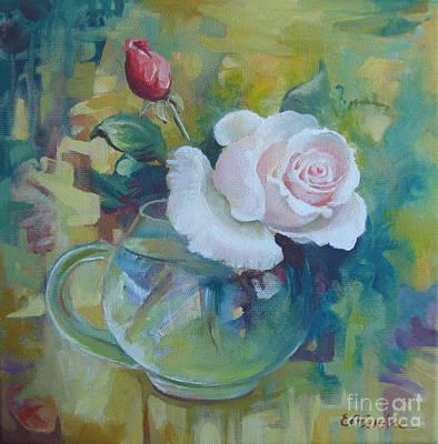 White Rose Poster by Elena Oleniuc