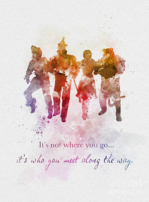 Who You Meet Along The Way Poster by Rebecca Jenkins