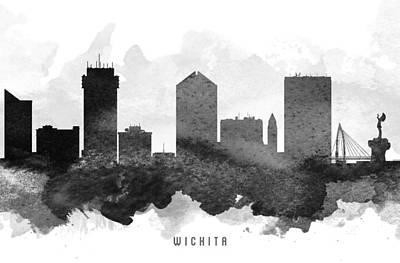 Wichita Cityscape 11 Poster by Aged Pixel