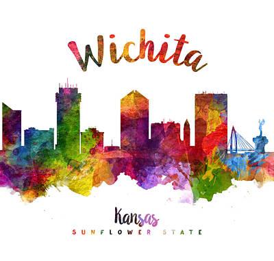 Wichita Kansas 23 Poster by Aged Pixel
