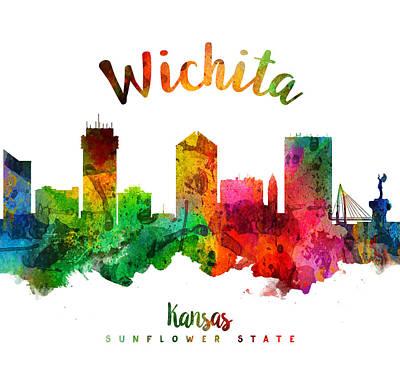 Wichita Kansas 24 Poster by Aged Pixel