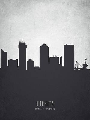 Wichita Kansas Cityscape 19 Poster by Aged Pixel