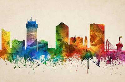 Wichita Kansas Skyline 05 Poster by Aged Pixel