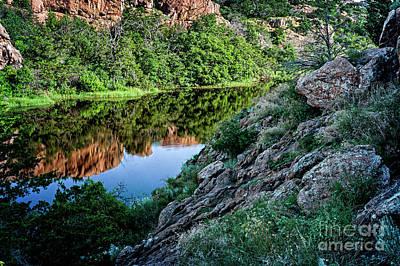 Wichita Mountain River Poster by Tamyra Ayles