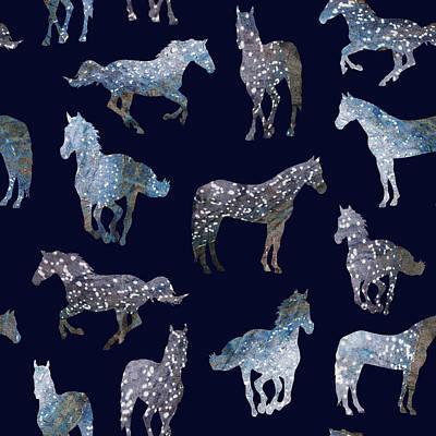 Wild Horses Poster by Varpu Kronholm