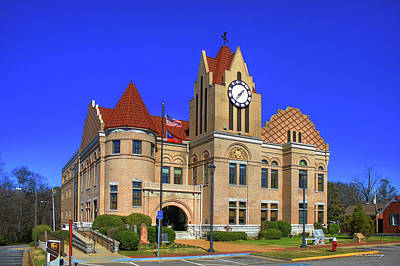 Wilkes County Courthouse Art Poster by Reid Callaway