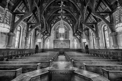 Willard Chapel - Black And White Poster by Stephen Stookey