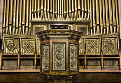 Willard Memorial Chapel Pulpit And Organ Poster by Stephen Stookey