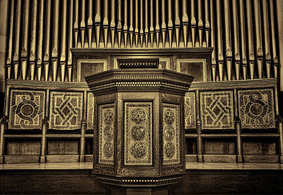 Willard Memorial Chapel Pulpit And Organ #2 Poster by Stephen Stookey