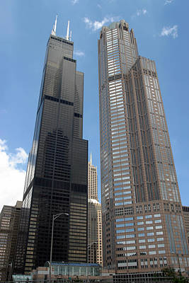 Willis Tower Aka Sears Tower And 311 South Wacker Drive Poster by Adam Romanowicz