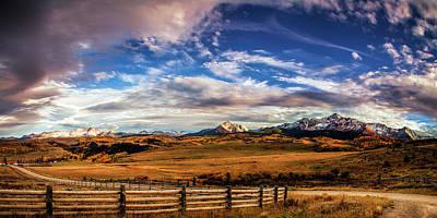 Wilson Mesa At Autumn Poster by Andrew Soundarajan