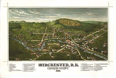 Winchester New Hampshire 1887 Poster by Mountain Dreams
