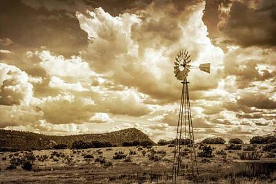 Windmill Landscape Poster by James Barber