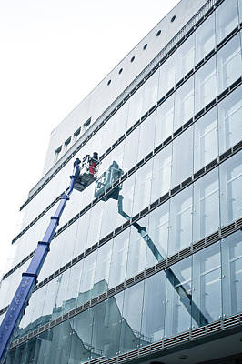 Window Cleaning Poster by Tom Gowanlock