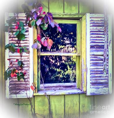 Window From The Past Poster by MaryLee Parker