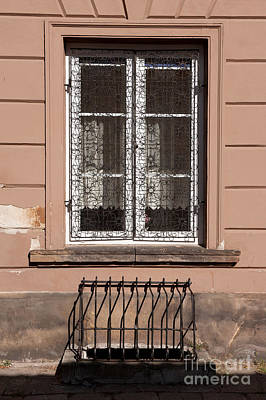 Window Grating At New Town Poster by Arletta Cwalina