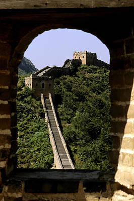 Window Great Wall Poster by Bill Bachmann - Printscapes