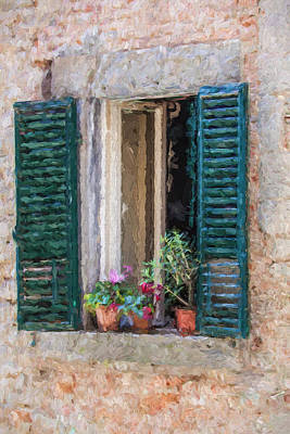 Window Of Cortona Poster by David Letts