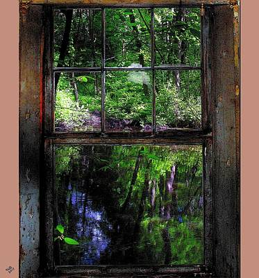 Window On The River Poster by Cliff Wilson