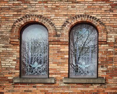 Windows - First Congregational Church - Jackson - Michigan Poster by Nikolyn McDonald
