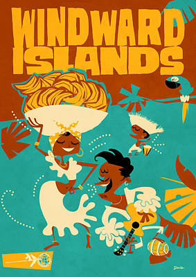 Windward Isles Poster by Daviz Industries