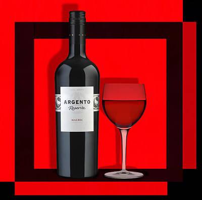 Wine Anyone-1 Poster by Nina Bradica