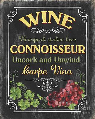Wine Cellar 2 Poster by Debbie DeWitt