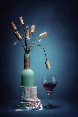 Wine Cork Bouquet Poster by Tom Mc Nemar