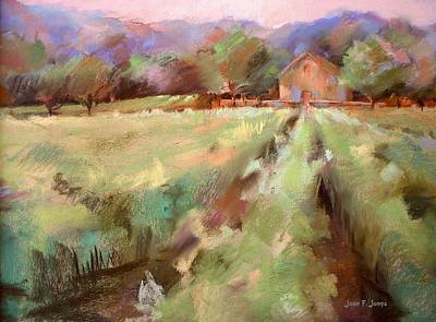 Wine Country 2 Poster by Joan  Jones