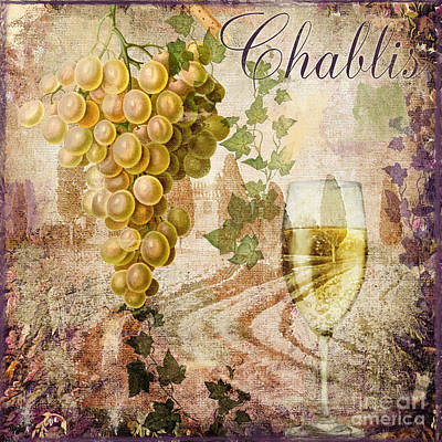 Wine Country Chablis Poster by Mindy Sommers
