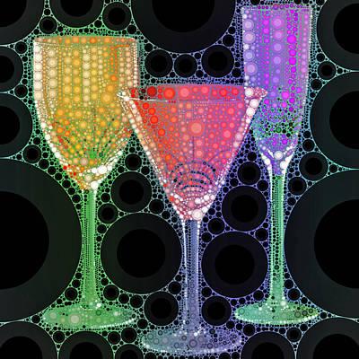 Wine Glass Art-1 Poster by Nina Bradica