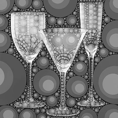 Wine Glass Art-2 Poster by Nina Bradica