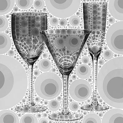 Wine Glass Art-3 Poster by Nina Bradica