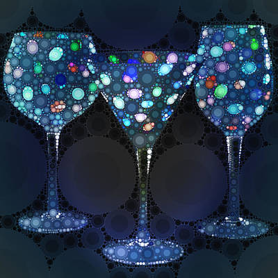 Wine Glass Art-4 Poster by Nina Bradica