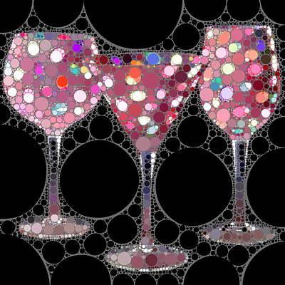 Wine Glass Art-5 Poster by Nina Bradica