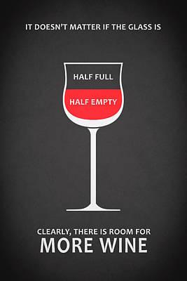Wine Glasses 1 Poster by Mark Rogan