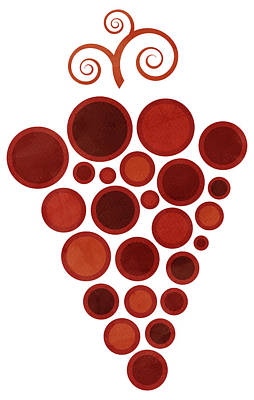 Wine Grape Poster by Frank Tschakert