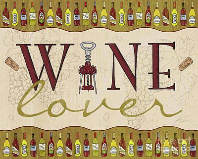 Wine Lover Poster by Shari Warren